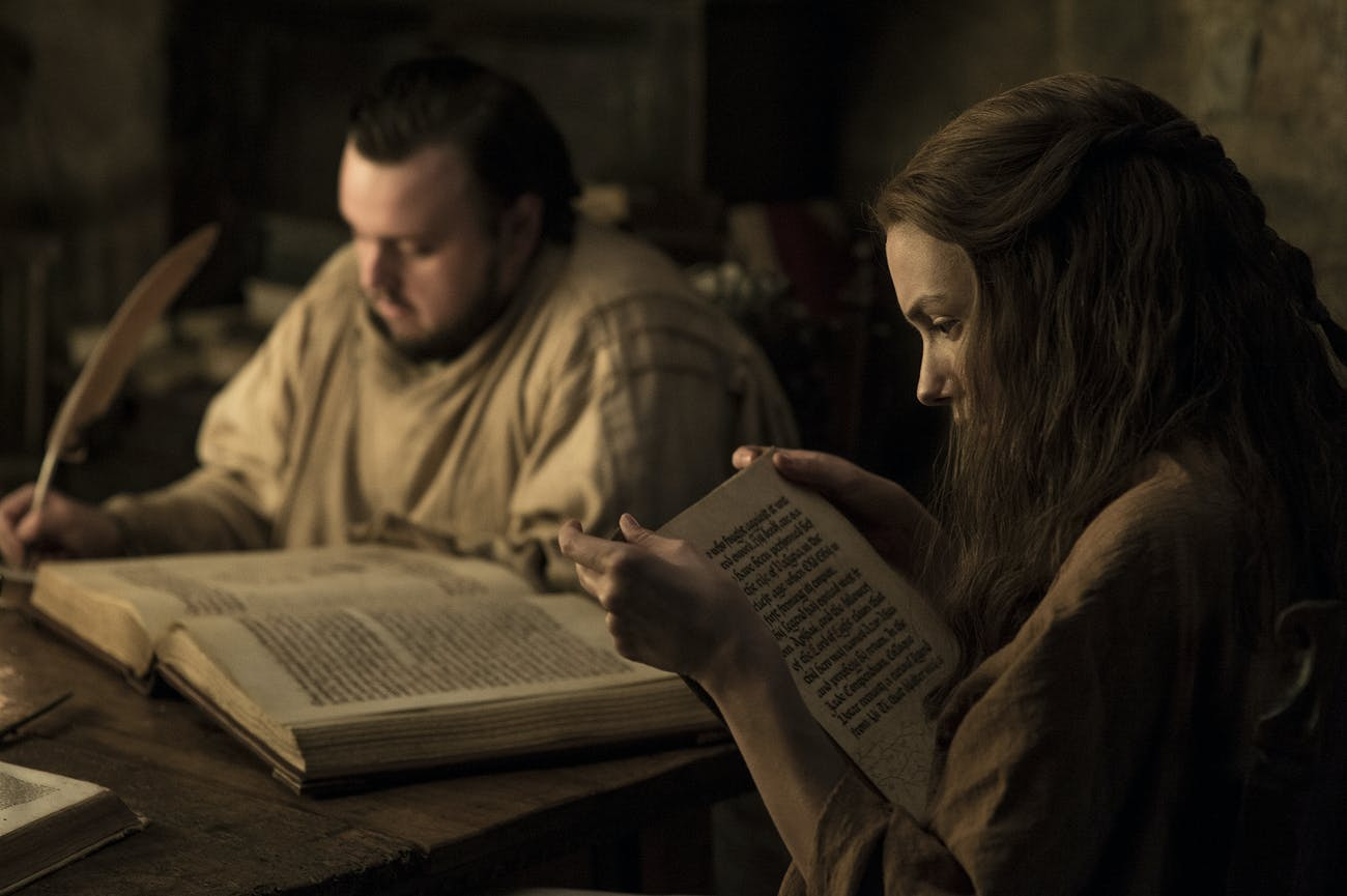 Sam and Gilly in 'Game of Thrones' Season 7 episode 1, 'Dragonstone'