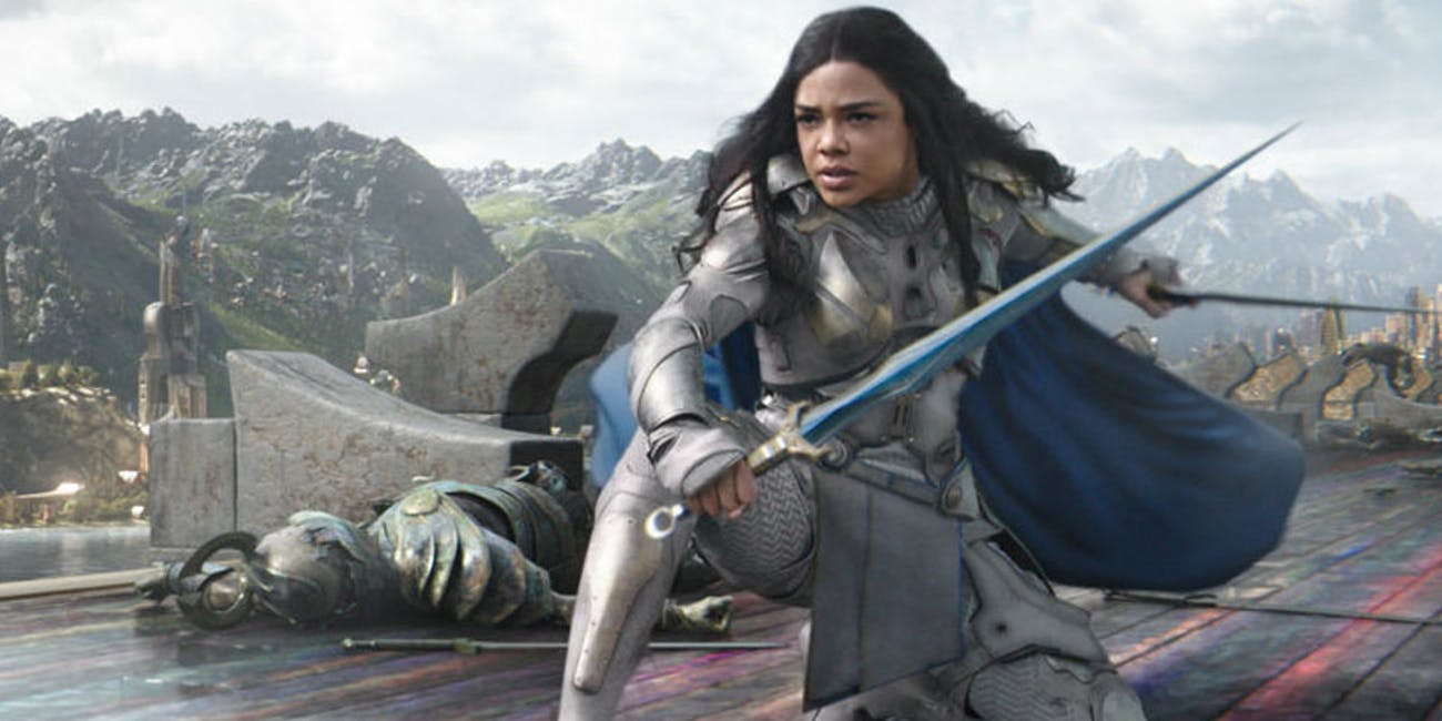 Tessa Thompson as Valkyrie in 'Thor: Raganarok'