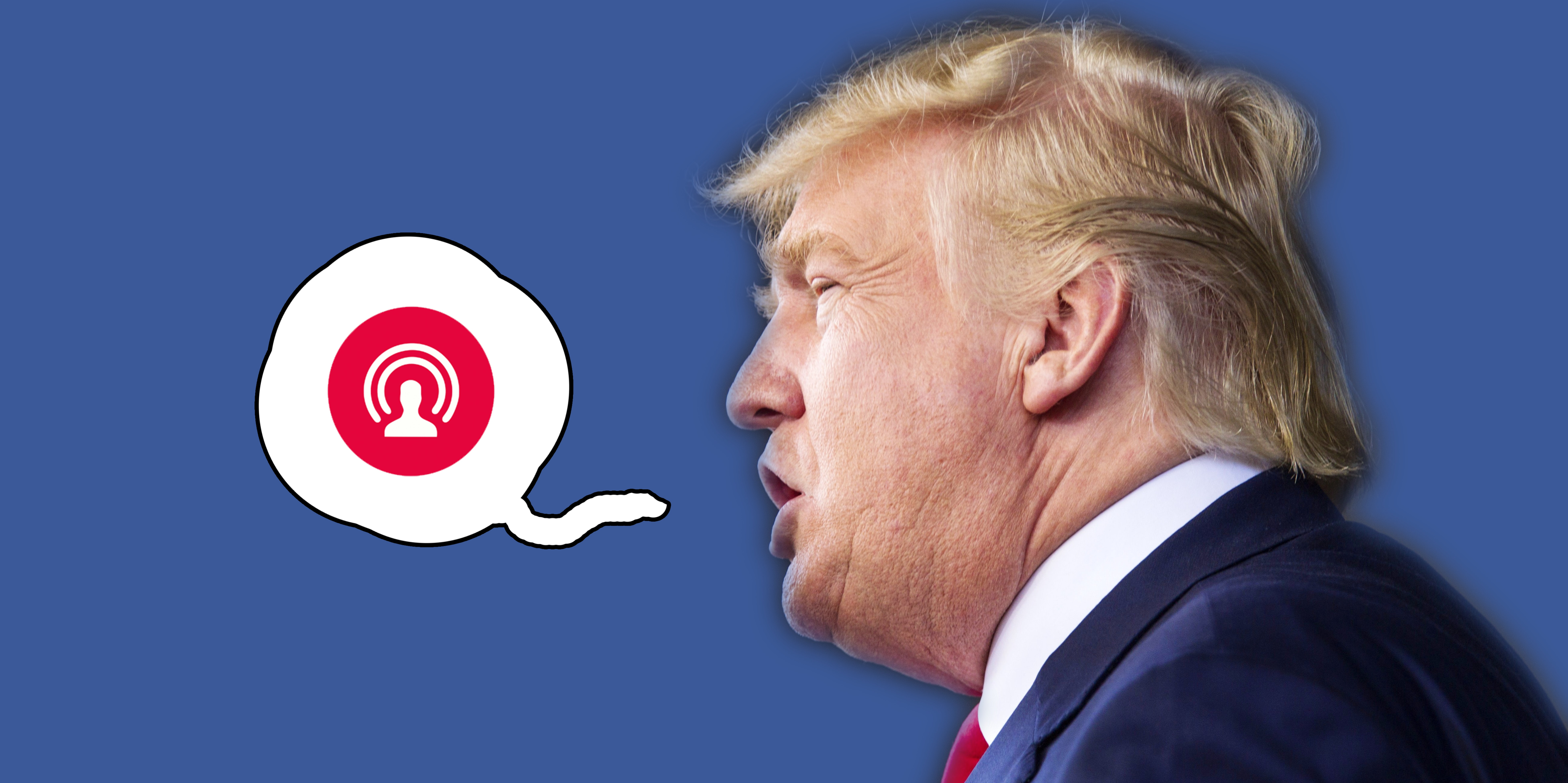 Donald Trump will broadcast nightly on Facebook Live.