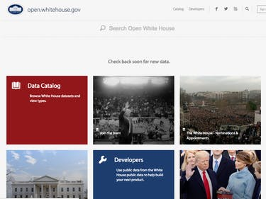 The White House Open Data Page Just Got Trumped