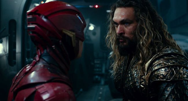 The Flash and Aquaman look like they're gearing up for some kind of final battle.