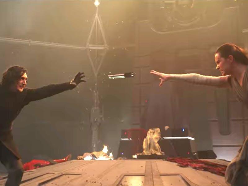 'Star Wars: The Last Jedi' Kylo Ren and Rey fight over the Skywalker lightsaber