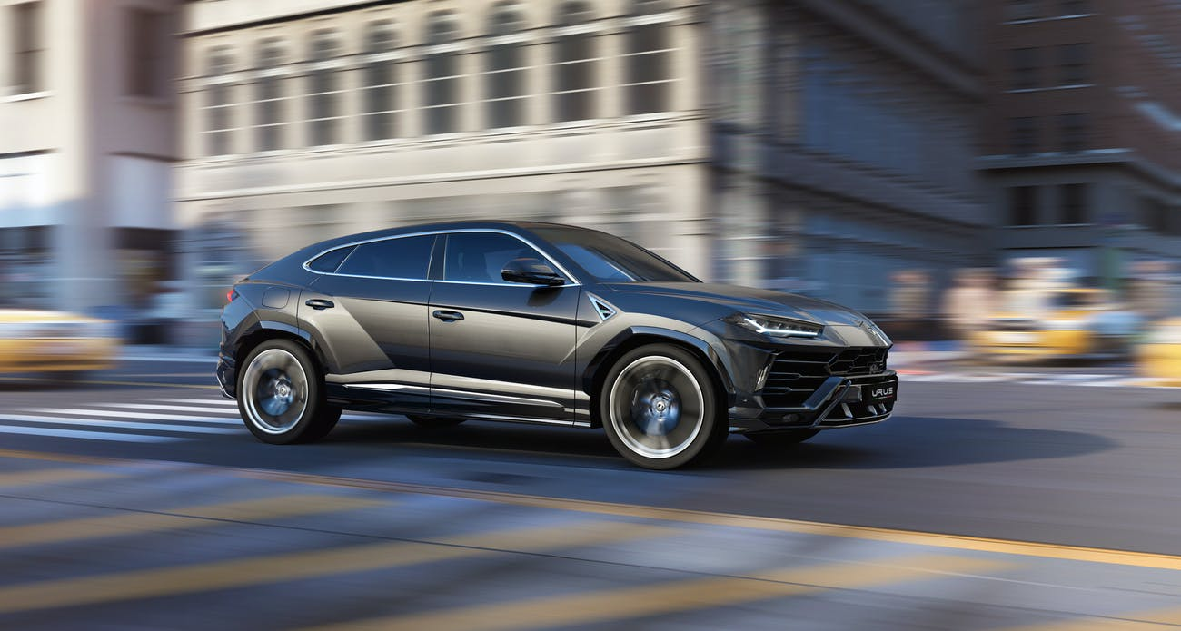 Urus from the side.