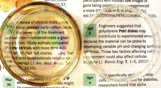 Left, petri dish covered in nanodiamonds.