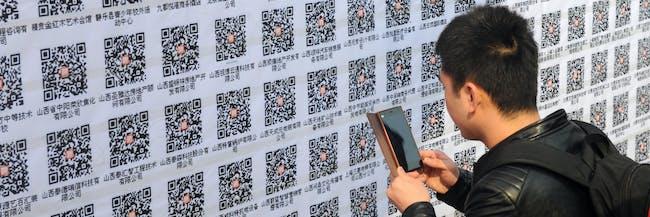 china qr code cash economy