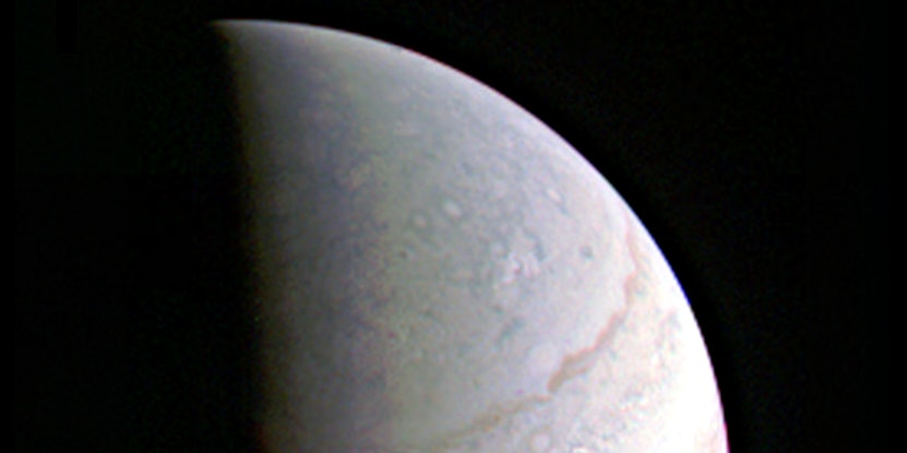 Juno successfully completed the first of its 36 orbital flybys.