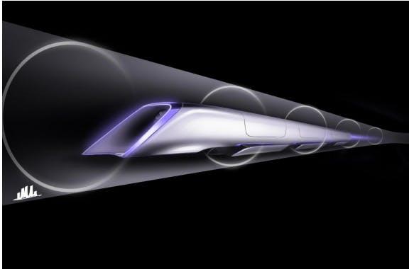 An original concept rendering from Hyperloop.