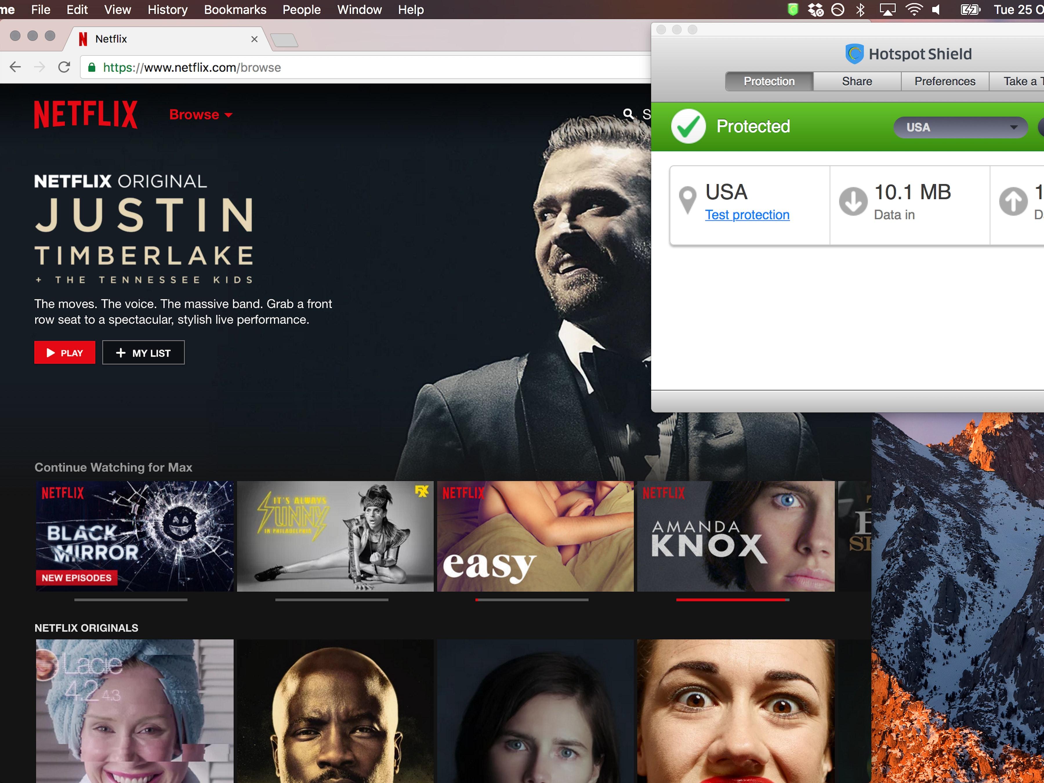 A VPN unlocks U.S. Netflix (and Justin Timberlake)