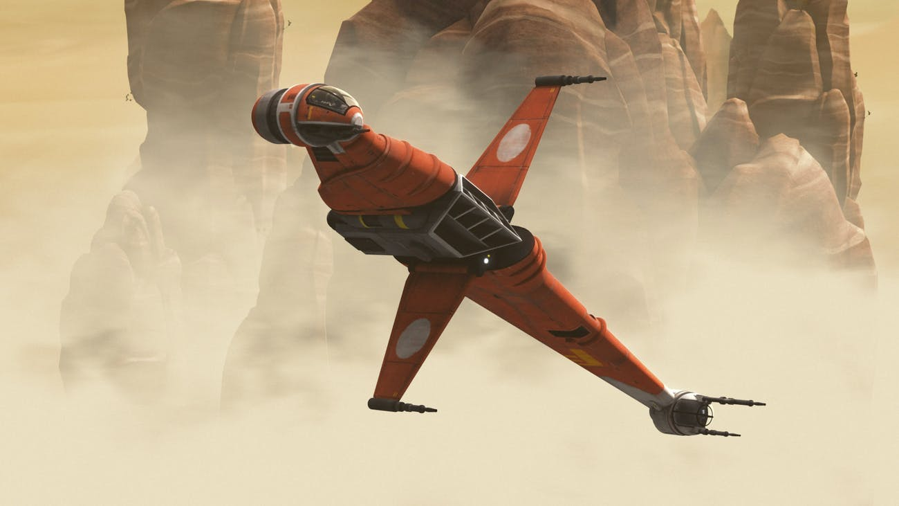 In canon, the B-Wing's current origin is in 'Rebels'