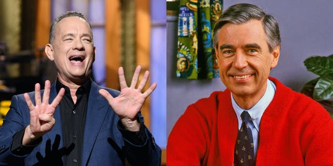 Tom Hanks and Mr Rodgers