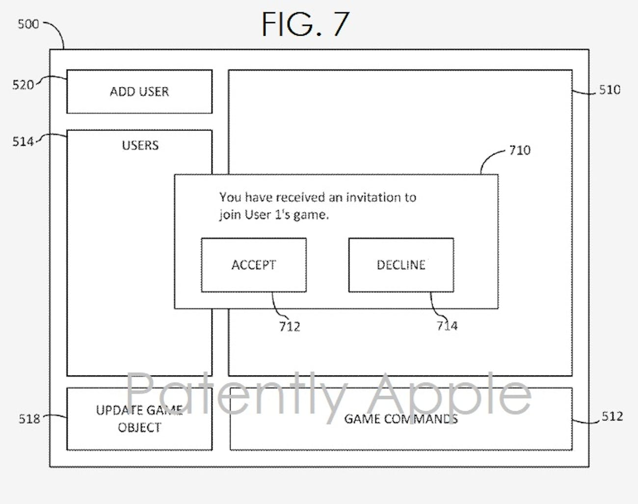 apple patent gaming system