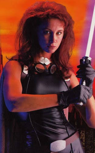 Shannon McRandle as Mara Jade in the Star Wars Customizable Card Game.