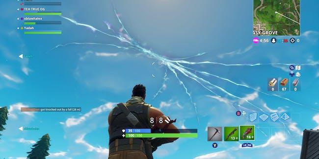 """'Fortnite"""" Cracked Sky"""