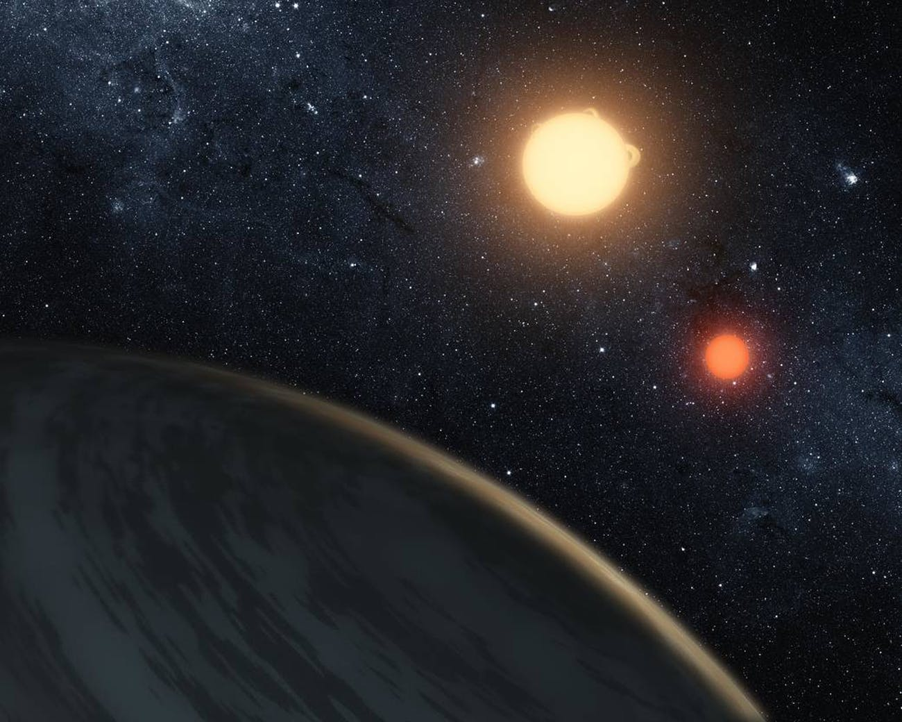 This two star system is a lot like Tatooine.
