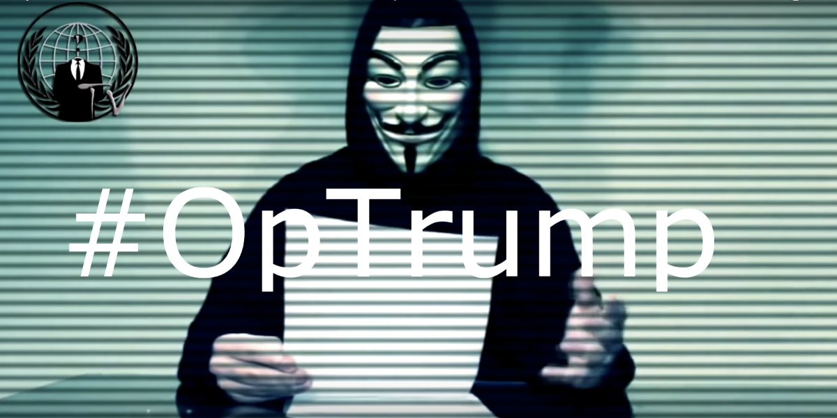 Anonymous has renewed its war on Donald Trump