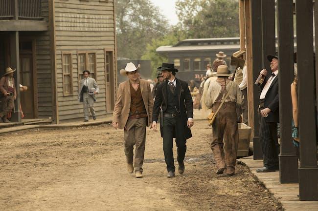 Jimmi Simpson and Ben Barnes on 'Westworld.'