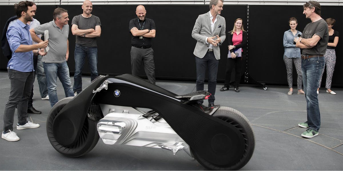 bmw's concept motorcycle is straight out of 'tron' | inverse