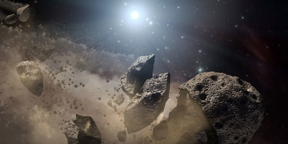 A rather terrifying artist's rendering of a potentially dangerous asteroid. Programs like Scout will help save us from this kind of stuff.
