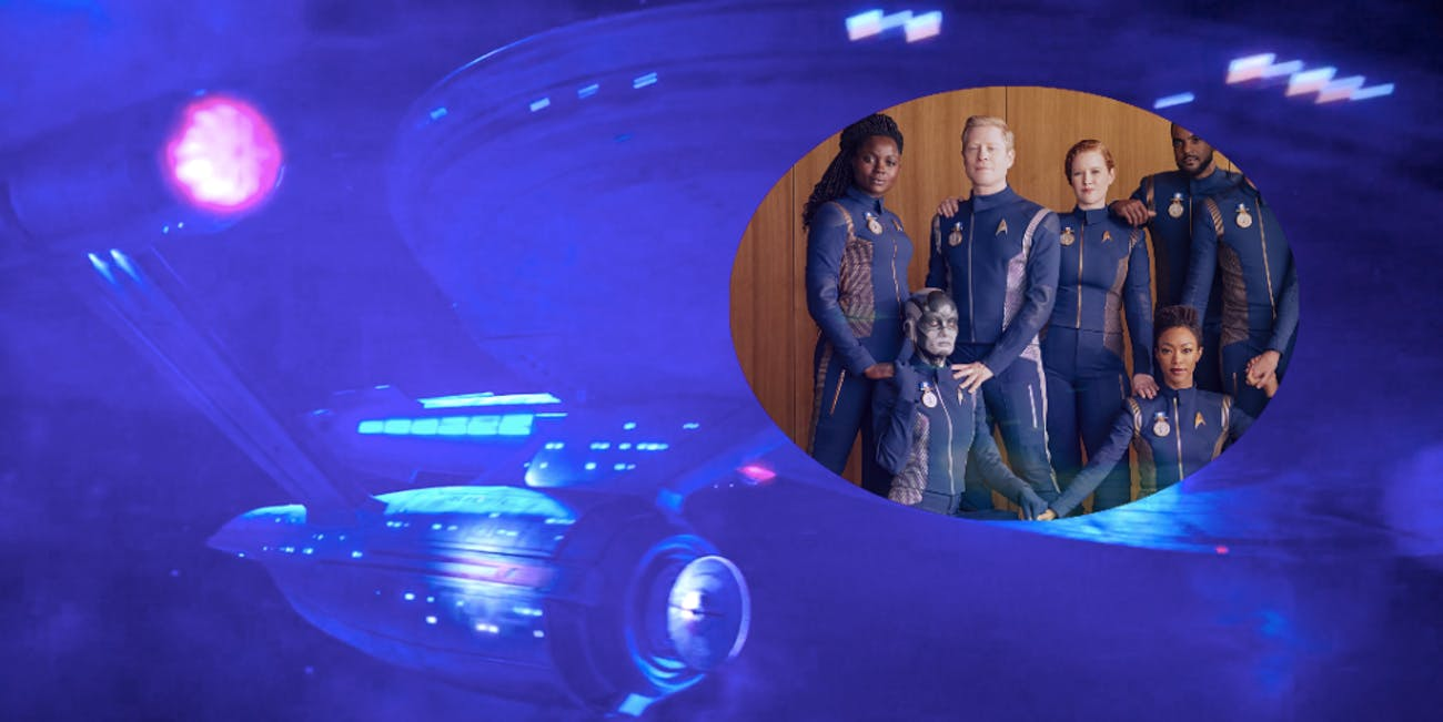 The crew of the USS Discovery in the season one finale of 'Star Trek: Discovery'