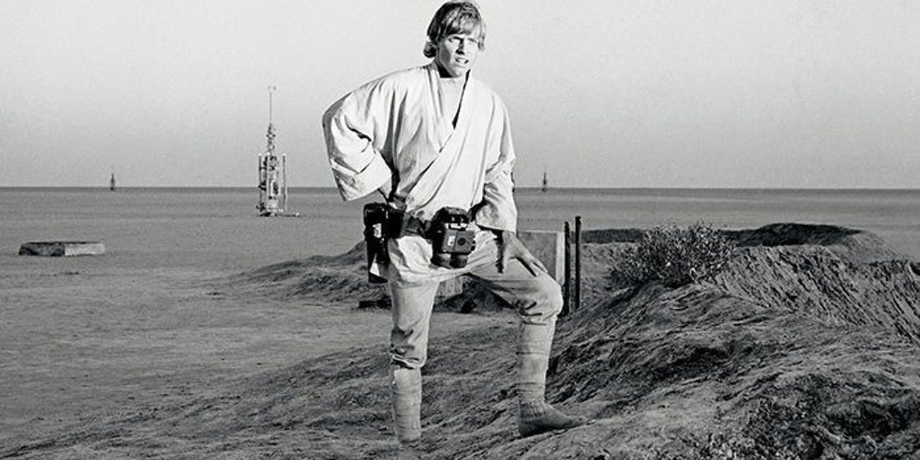 Luke Skywalker pondering his future