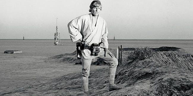 Luke Skywalker pondering his future