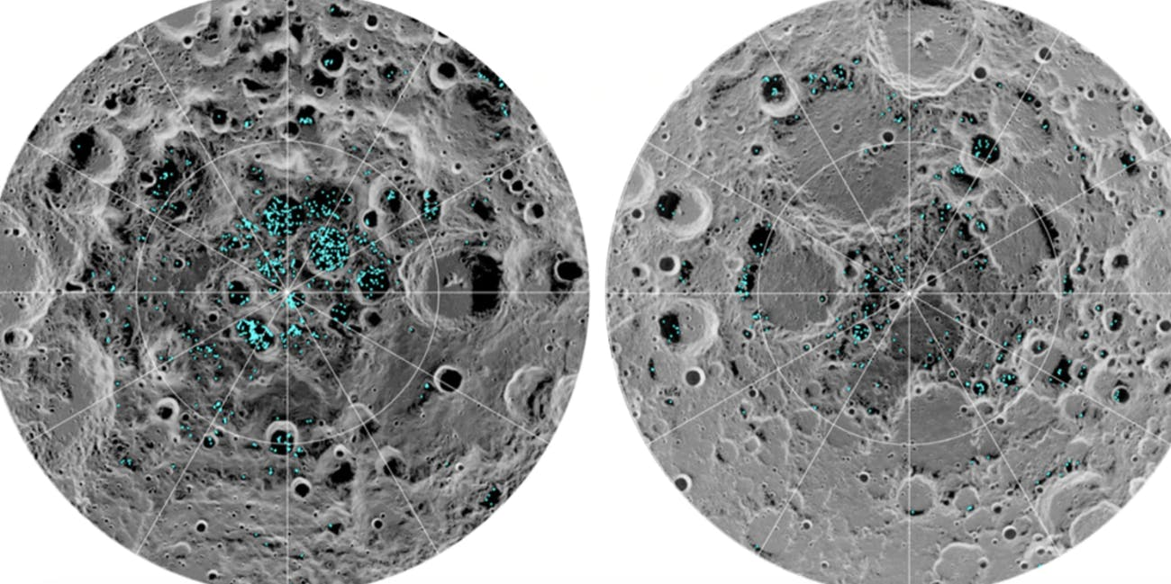 It's NASA Official: The Moon Has Water Ice Deposits in Its