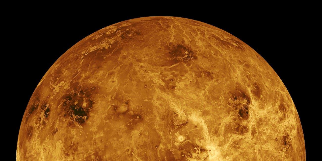 Computer Simulated Global View of Venus