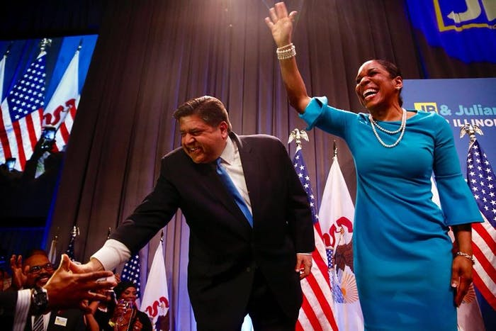 JB Prtizker and Juliana Stratton are on the ballot to be governor and lieutenant governor, respectively, in Illinois.