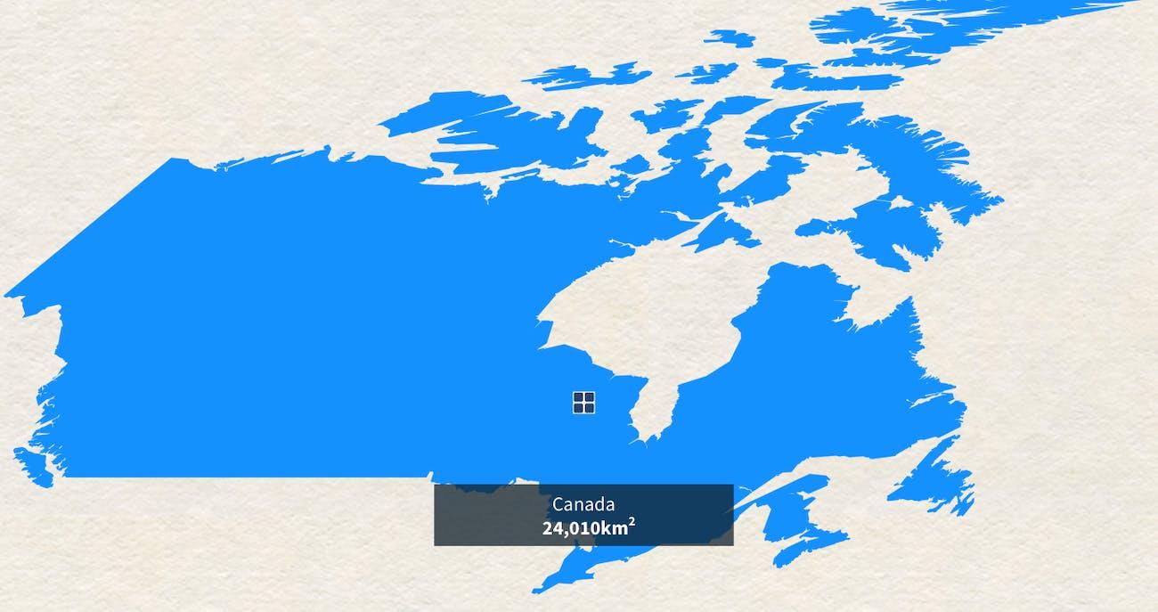 Canada powered entirely by solar.