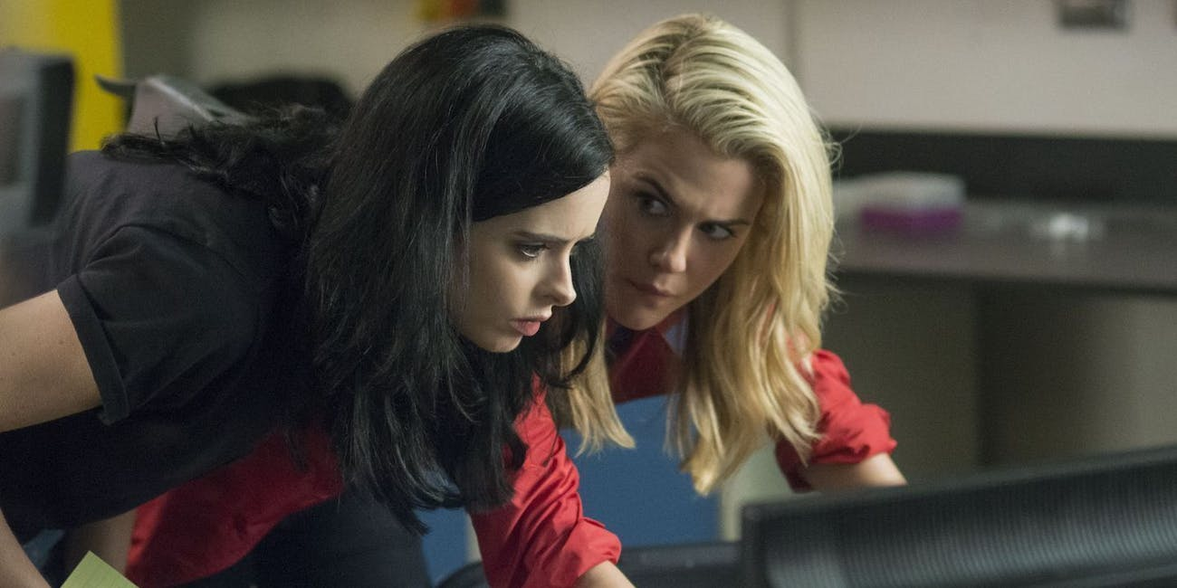 Jessica Jones and Trish Walker in Netflix's Marvel series 'Jessica Jones'