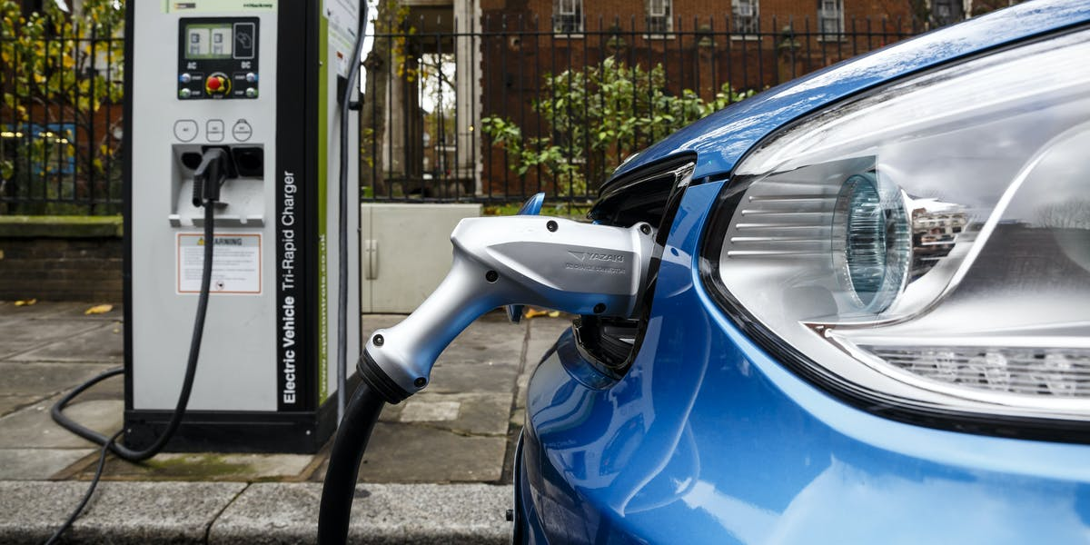 car charging electric vehicle EV port emissions reduction