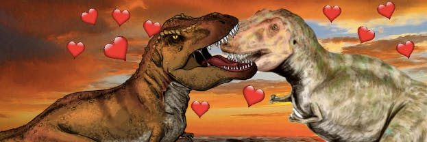 Scientists made the discovery that Tyrannosaurus Rex were gentle lovers
