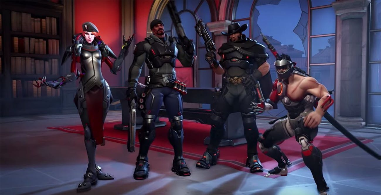 Here's the default squad for Overwatch Retribution.