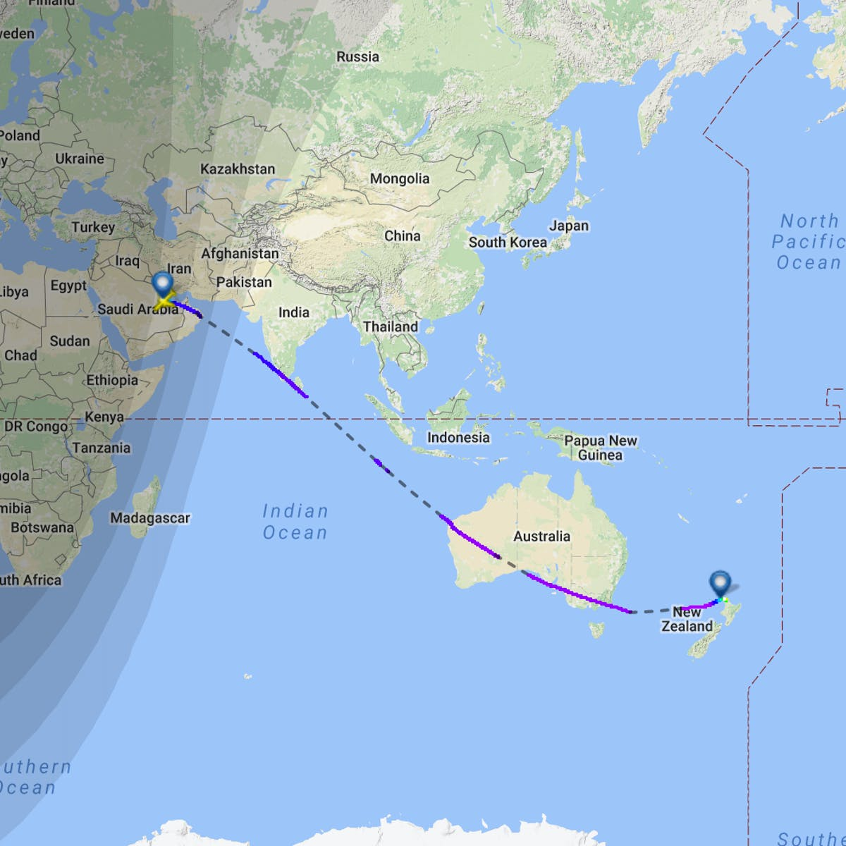 This Map Shows Qatar Airways\' New Zealand Route, the World\'s ...