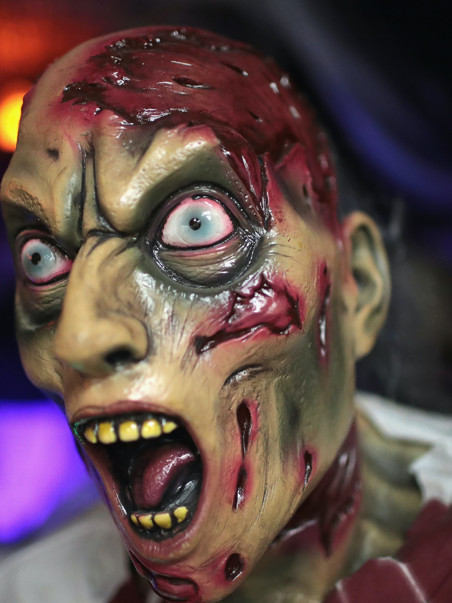CHICAGO, IL - OCTOBER 19:  Halloween props and masks are offered for sale at Fantasy Costumes on October 19, 2016 in Chicago, Illinois.  Although at least one major retailer has removed creepy clown costumes from their store shelves in the wake of negative news stories, Fantasy Costumes said they are one of this season's biggest sellers. (Photo by Scott Olson/Getty Images)