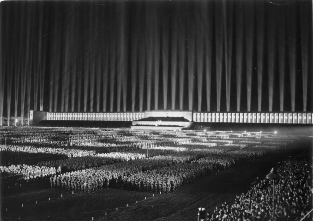 """The """"Rally of Honor"""" in Nuremberg, Germany, 1936."""