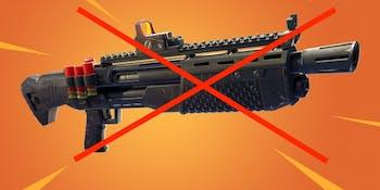 Shotguns in 'Fortnite: Battle Royale' just got nerfed in a big way.