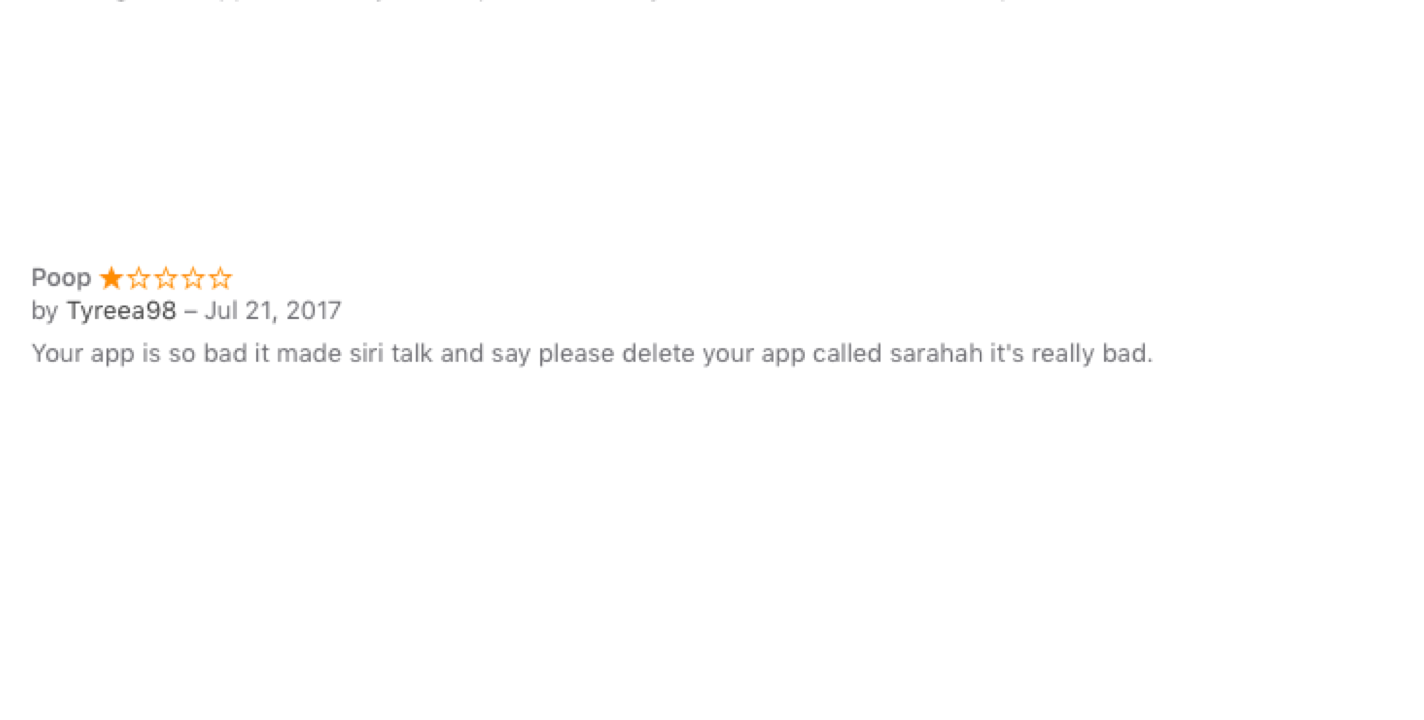 Sarahah's One-Star Reviews Reveal Users' Problems With Anonymous App