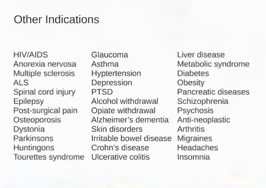 Canadian physicians may prescribe pot to treat neuropathic pain, anorexia, and nausea, together with these diseases.