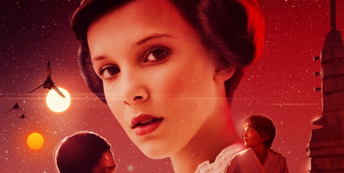 Millie Bobby Brown as Princess Leia.
