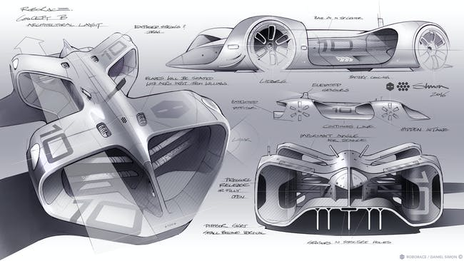 Design sketches for the Robocar.