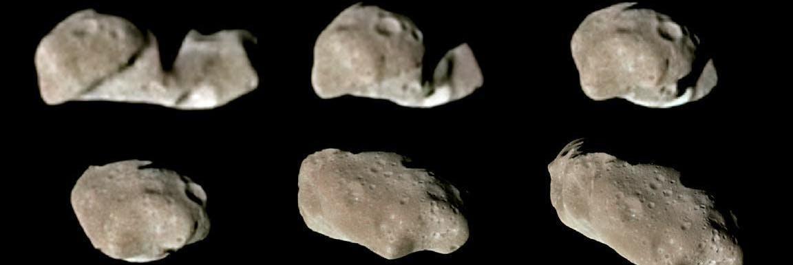 Nine Galileo Views in Natural Color of Main-Belt Asteroid Ida
