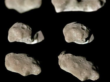 Nine Galileo Views in Natural Color of Main-Belt Asteroid Ida