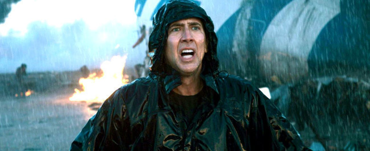 nic cage knowing plane crash