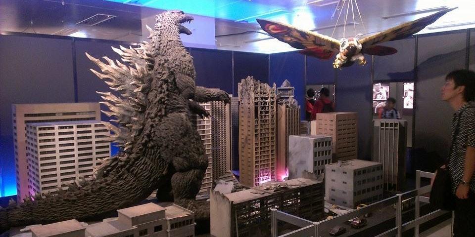 Godzilla takes on Mothra