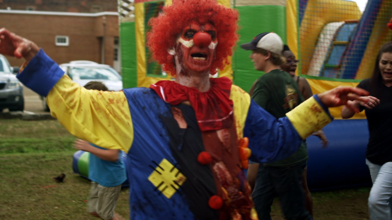 Is there anything scarier than a zombie clown?