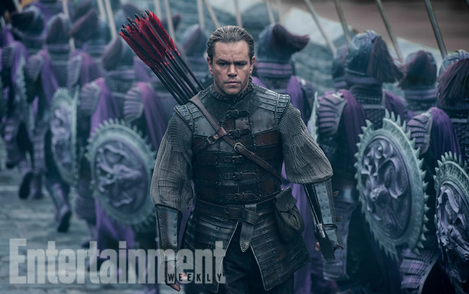 Matt Damon doing his best ancient Chinese Hawkeye impression.