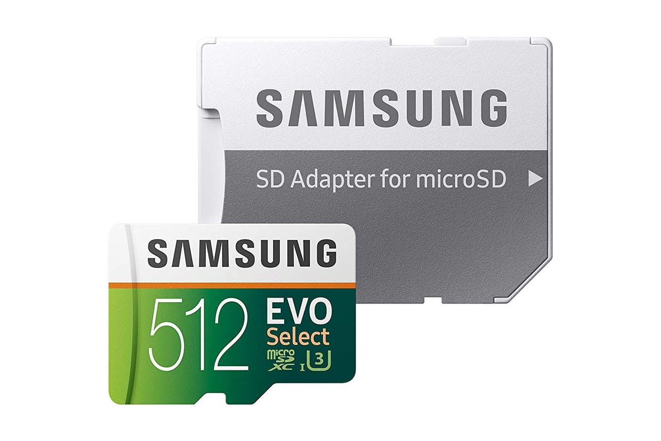 Samsung 512GB 100MB/s (U3) MicroSD Evo Select Memory Card with Adapter (MB-ME512GA/AM)