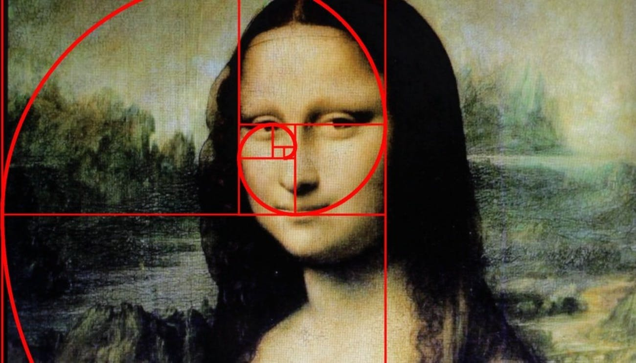 mona lisa golden ratio fibonacci spiral