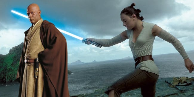 Rey's definitely more powerful than one iconic Jedi.